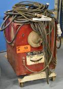 LINCOLN ELECTRIC IDEALARC 250 STICK WELDER WITH CABLES & GUN, S/N: N/A [RIGGING FEES FOR LOT #