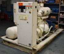 GARDNER DENVER EAQ99K ELECTRA SCREW ROTARY SCREW AIR COMPRESSOR WITH 125 HP, S/N: S030186 (CI) [