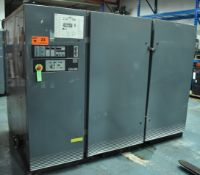 ATLAS COPCO GA160 ROTARY SCREW AIR COMPRESSOR WITH 200 HP, 157 PSI, S/N: AIF.018745 (CI) [RIGGING