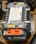 GARDNER DENVER INDUSTRIAL 45 SERIES BLOWER WITH 4000 MAX. RPM, S/N: S472769 (CI) [RIGGING FEES FOR