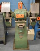 "FORD-SMITH 16"" DOUBLE END PEDESTAL GRINDER, S/N: 59121 (CI) [RIGGING FEES FOR LOT #8 - $50 CAD"