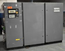 ATLAS COPCO GA160 ROTARY SCREW AIR COMPRESSORS WITH 200 HP, 157 PSI, S/N: AIF.040797 (CI) [RIGGING
