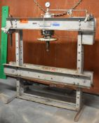MANLEY 40 TON H-FRAME SHOP PRESS, S/N: 83546411B (CI) [RIGGING FEES FOR LOT #3 - $100 CAD PLUS