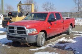 DODGE (2011) RAM 2500 HD CREW CAB PICKUP TRUCK WITH 5.7 LITER HEMI V8 GAS ENGINE, AUTO, RWD, VIN: