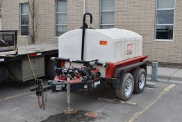 MULTIQUIP (2014) TRA/REM WTE5C 4,500LB CAPACITY TANDEM AXLE WATER HAULING TRAILER WITH 525GALLON