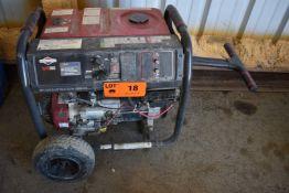 BRIGGS & STRATTON ELITE8000 10,000W GAS POWERED GENERATOR WITH 120-240V/1PH/60HZ, APPROX. 125