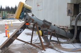 """MAGNUM 12"""" DIA. X 10' INCLINE POWERED AUGER CONVEYOR WITH 10HP DRIVE MOTOR, MAGNUM ROTARY FEEDER,"""