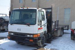 HINO (2004) FB FLAT DECK CAB FORWARD TRUCK WITH 5.3-LITER DIESEL ENGINE, AUTO, RWD, DUALLY,