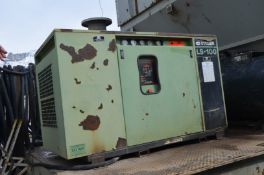 SULLAIR LS 100 40HP SCREW TYPE AIR COMPRESSOR WITH AIR RECEIVER TANK, S/N: N/A (LOCATED IN JASPER