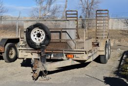 CANADA TRAILERS MFG (2011) TRA/REM CE716-14K 14,000LB CAPACITY TANDEM AXLE FLAT DECK TRAILER WITH