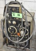 HOBART RC-200 MIG WELDER WITH HOBART 17 WIRE FEEDER, CABLES AND GUN, S/N: N/A