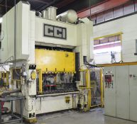 """CCI S2-150-48X48 150-TON CAPACITY MECHANICAL STRAIGHT SIDE PRESS WITH 10"""" STROKE, 24"""" SHUT HEIGHT,"""