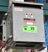 REX 8 KVA TRANSFORMER WITH 575HV/460Y/266LV/3PH (CI)