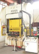 """MINSTER 50-7-60 200-TON CAPACITY MECHANICAL DOUBLE CRANK STRAIGHT SIDE PRESS WITH 6"""" STROKE, 12"""""""
