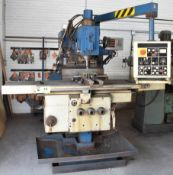 """TOS FGS 32/40 UNIVERSAL MILLING MACHINE WITH 54""""X16"""" TABLE, SPEEDS TO 1800 RPM, HEIDENHAIN 3 AXIS"""