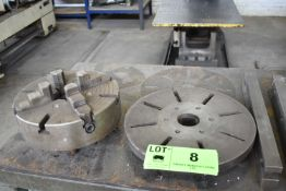 """LOT/ 12"""" 4 JAW CHUCK WITH 15"""" BACKING PLATE"""