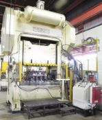 """BLOW PRESS 400 TON CAPACITY 400-54-78 MECHANICAL DOUBLE CRANK STRAIGHT SIDE PRESS WITH 12"""" STROKE,"""