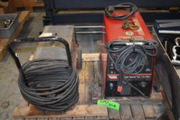 LOT/ LINCOLN ELECTRIC SQUARE WAVE TIG 175 PRO PORTABLE TIG WELDER WITH CABLES AND NO-MARK 5 PORTABLE