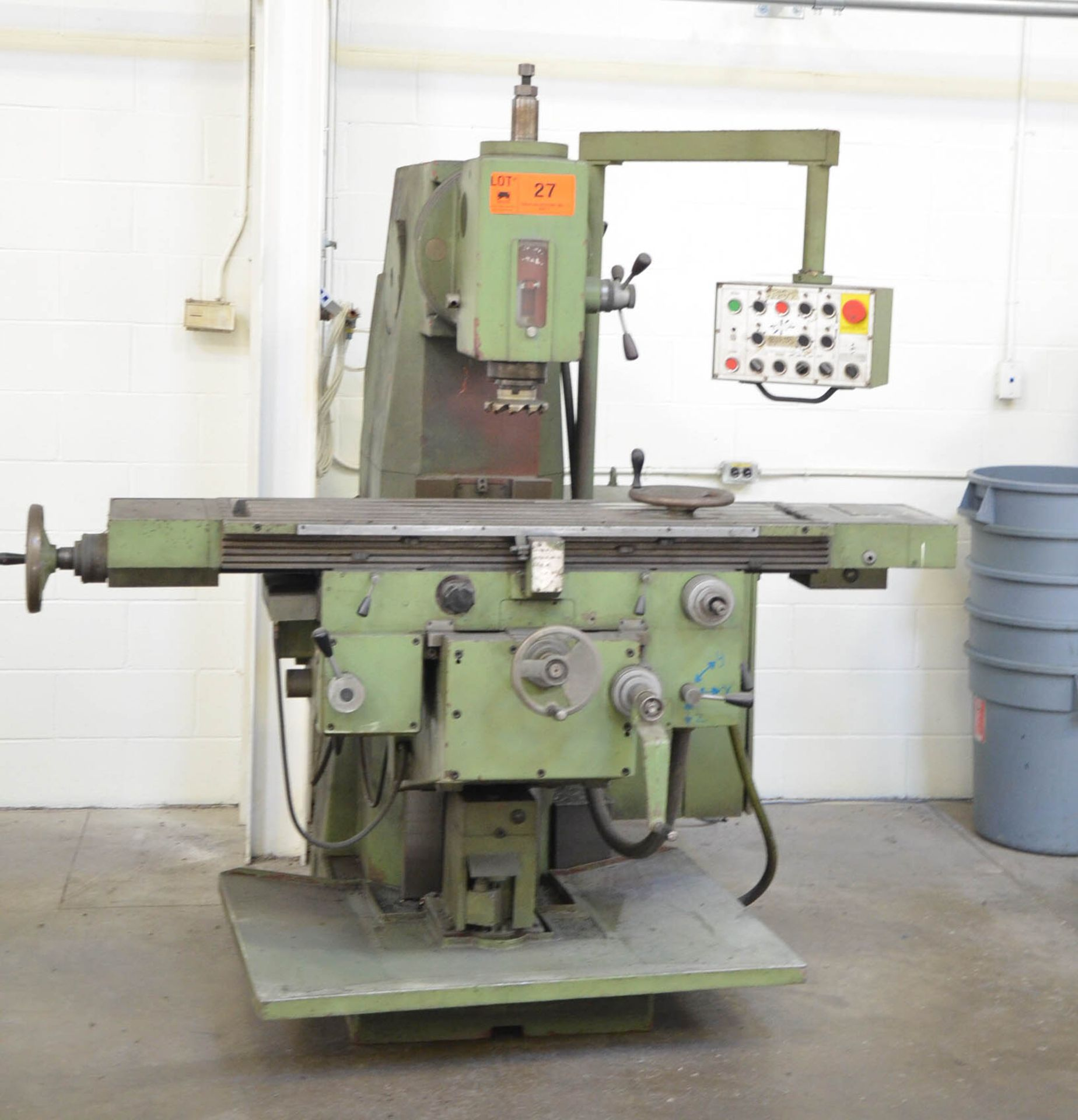 """TOS UNIVERSAL MILLING MACHINE WITH 12""""X50"""" TABLE, SPEEDS TO 1,750 RPM, #50 SPINDLE TAPER, PUSH - Image 2 of 4"""