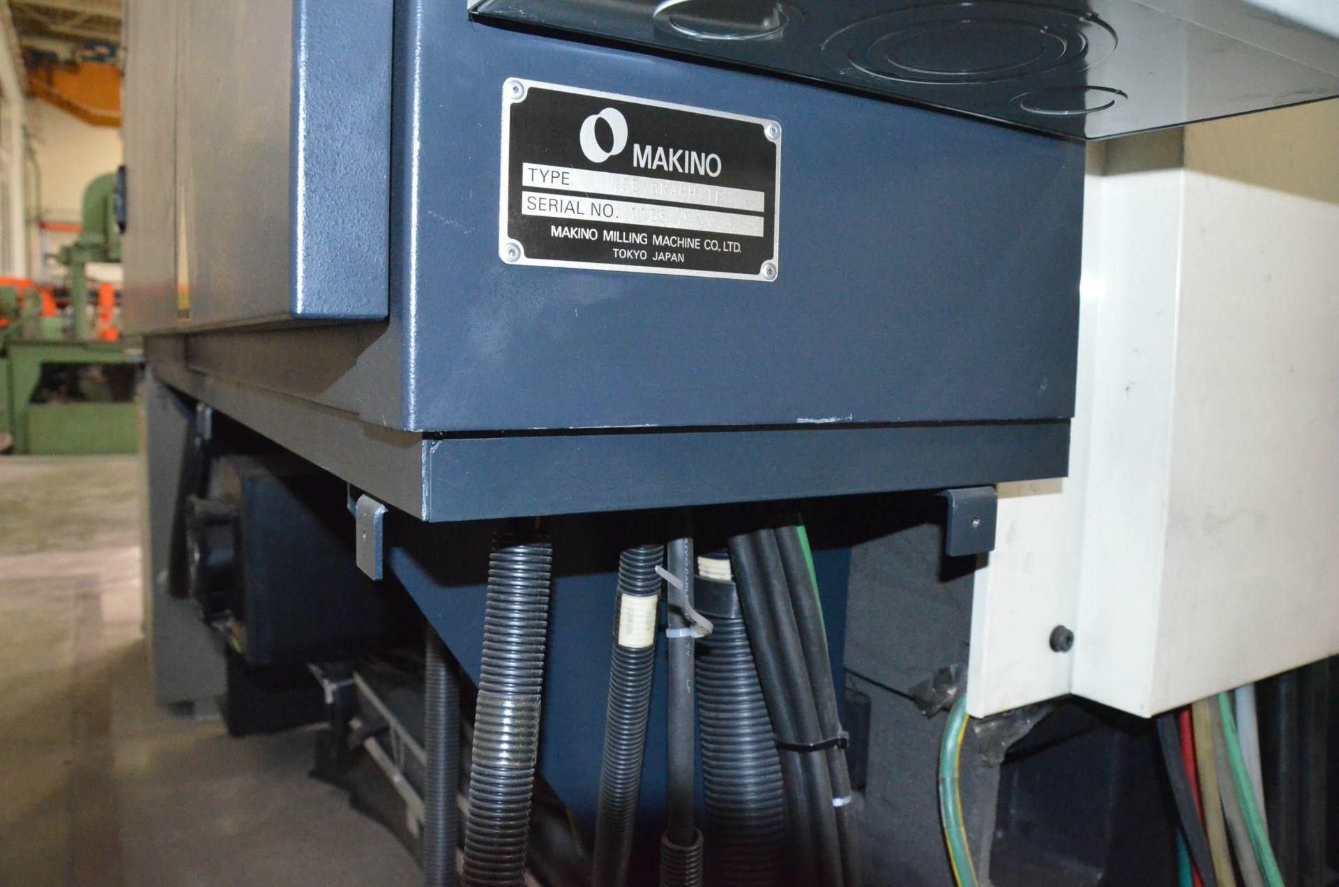 MAKINO (2008) V56 GRAPHITE CNC VERTICAL MACHINING CENTER WITH MAKINO PROFESSIONAL 5 TOUCHSCREEN - Image 10 of 10