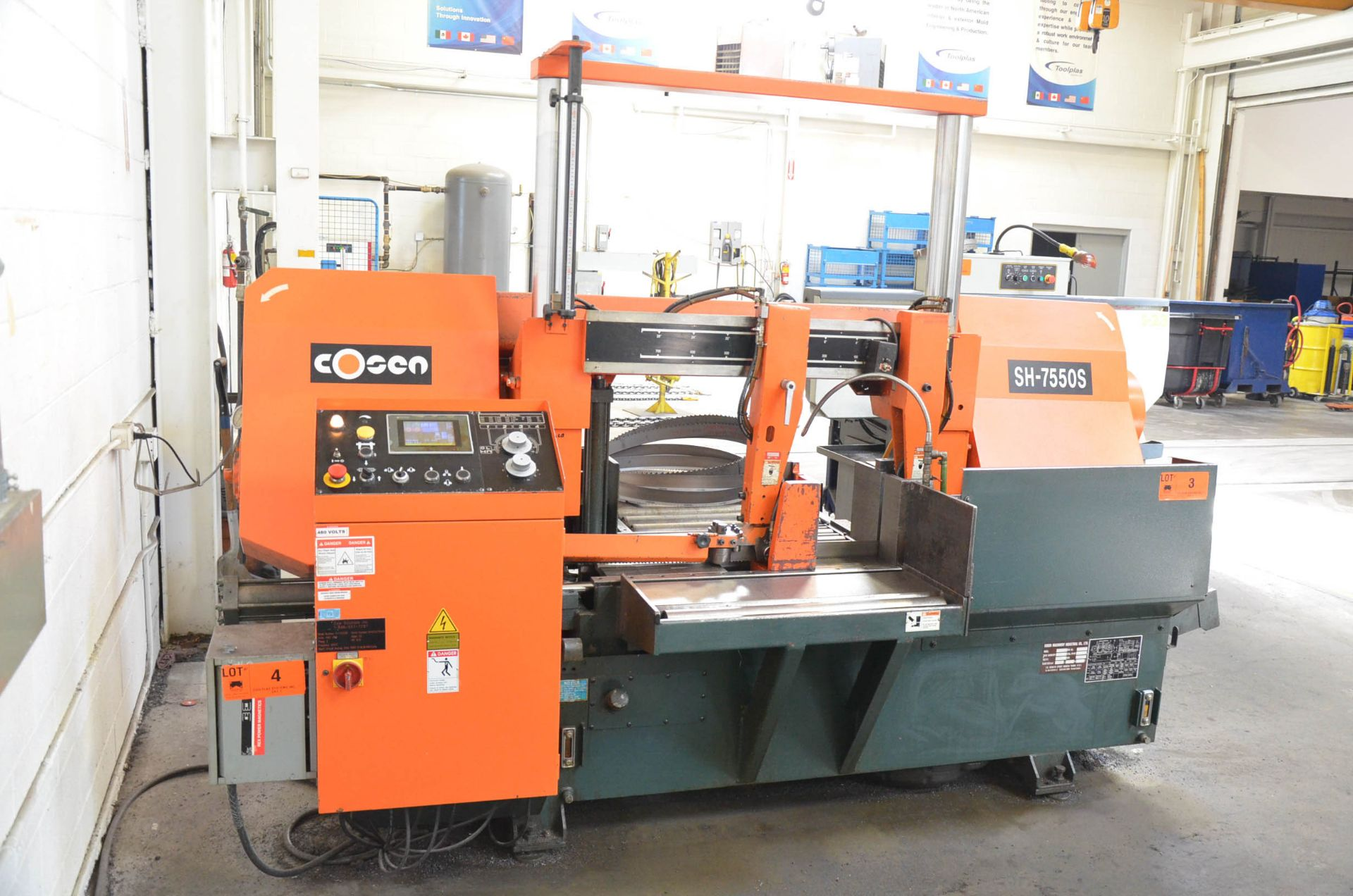 """COSEN (2012) SH-7550S AUTOMATIC DOUBLE COLUMN HORIZONTAL BAND SAW WITH 28"""" CAPACITY, HITECH TOUCH - Image 3 of 7"""