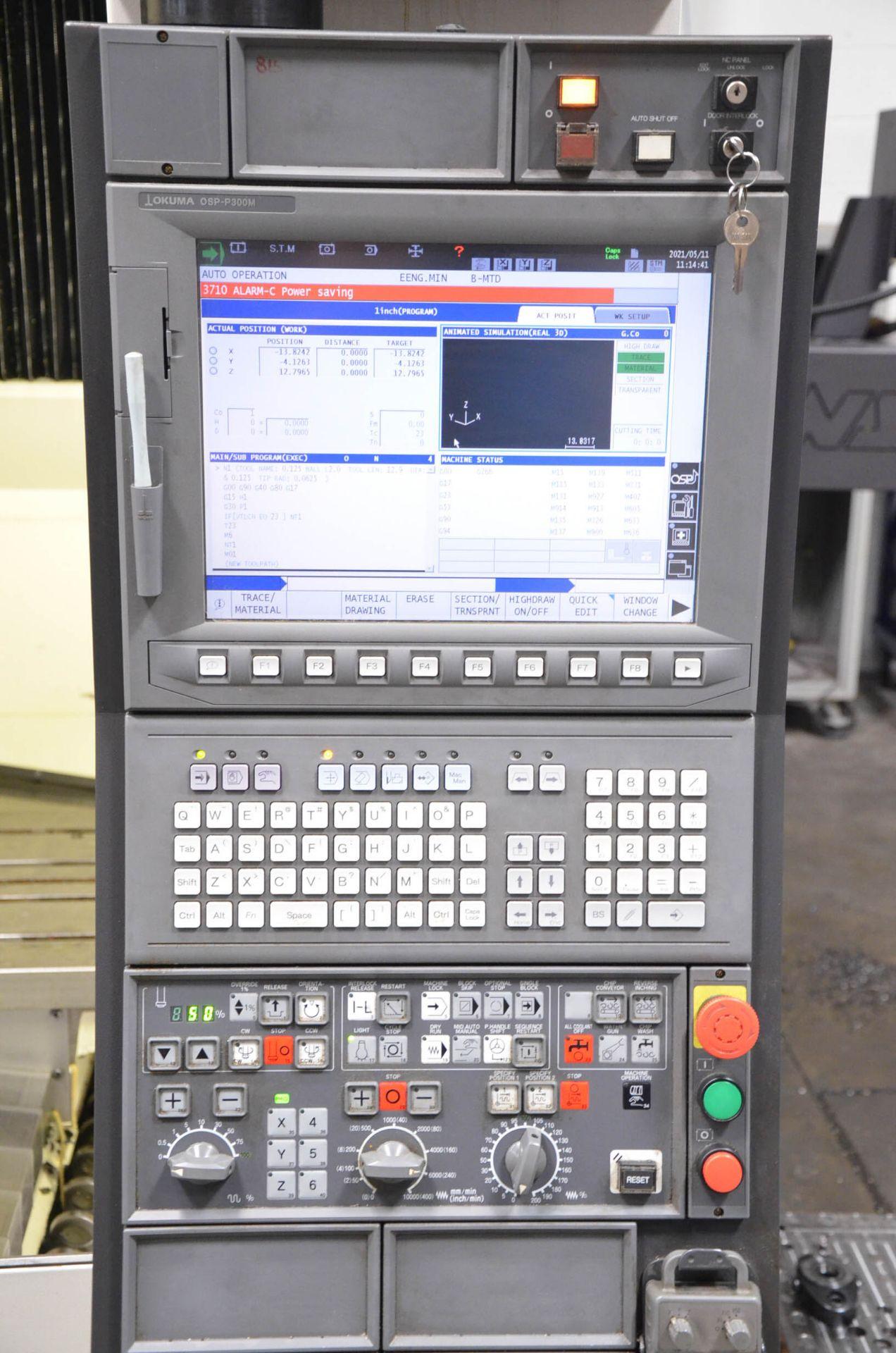 """OKUMA (DEC-2014) GENOS M560-V CNC VERTICAL MACHINING CENTER WITH OKUMA OSP-P300M CNC CONTROL, 22"""" - Image 7 of 12"""