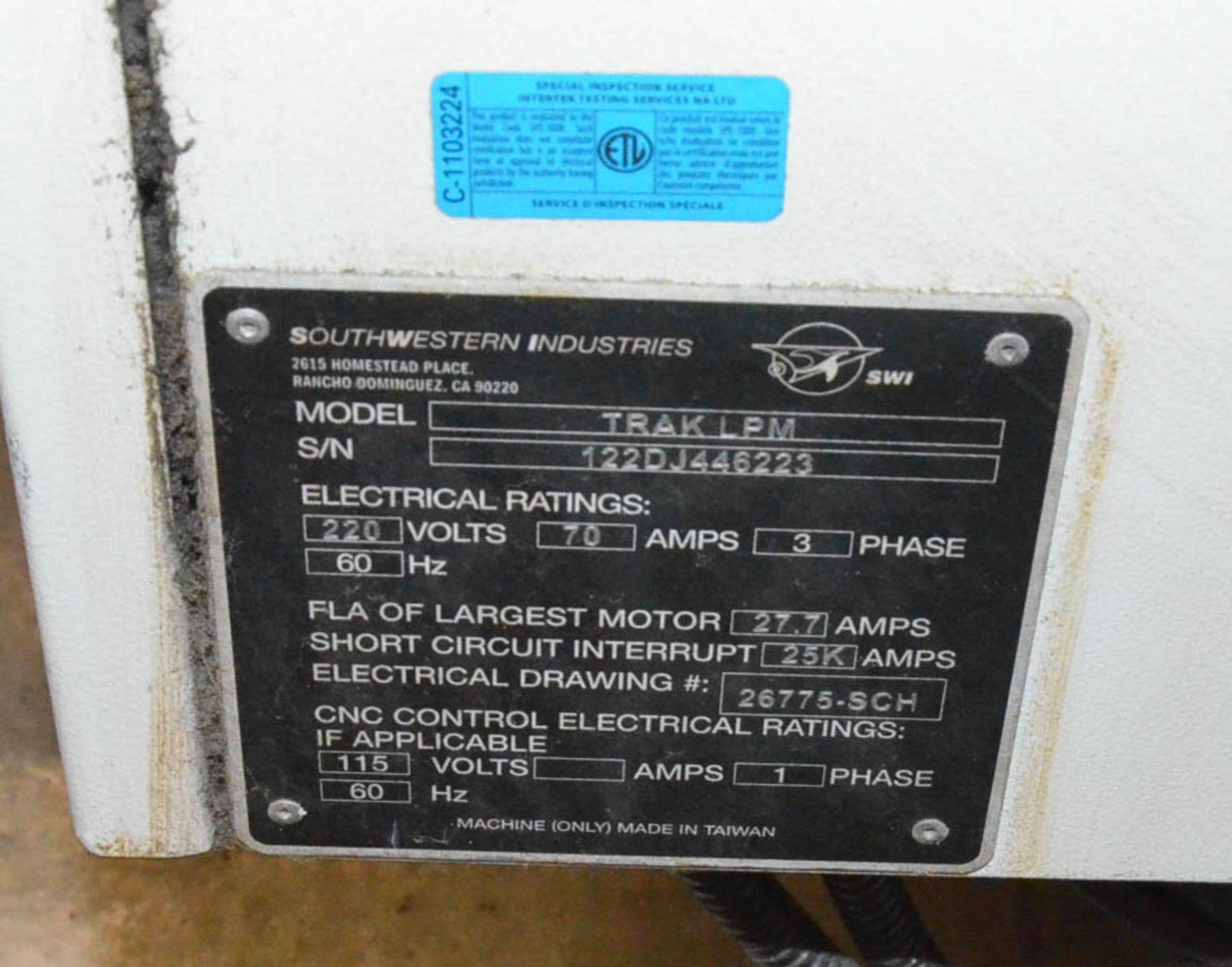 SWI (2012) TRAK LPM 4-AXIS READY CNC VERTICAL MACHINING CENTER WITH PROTO TRAK PMX CNC CONTROL, 19. - Image 4 of 10