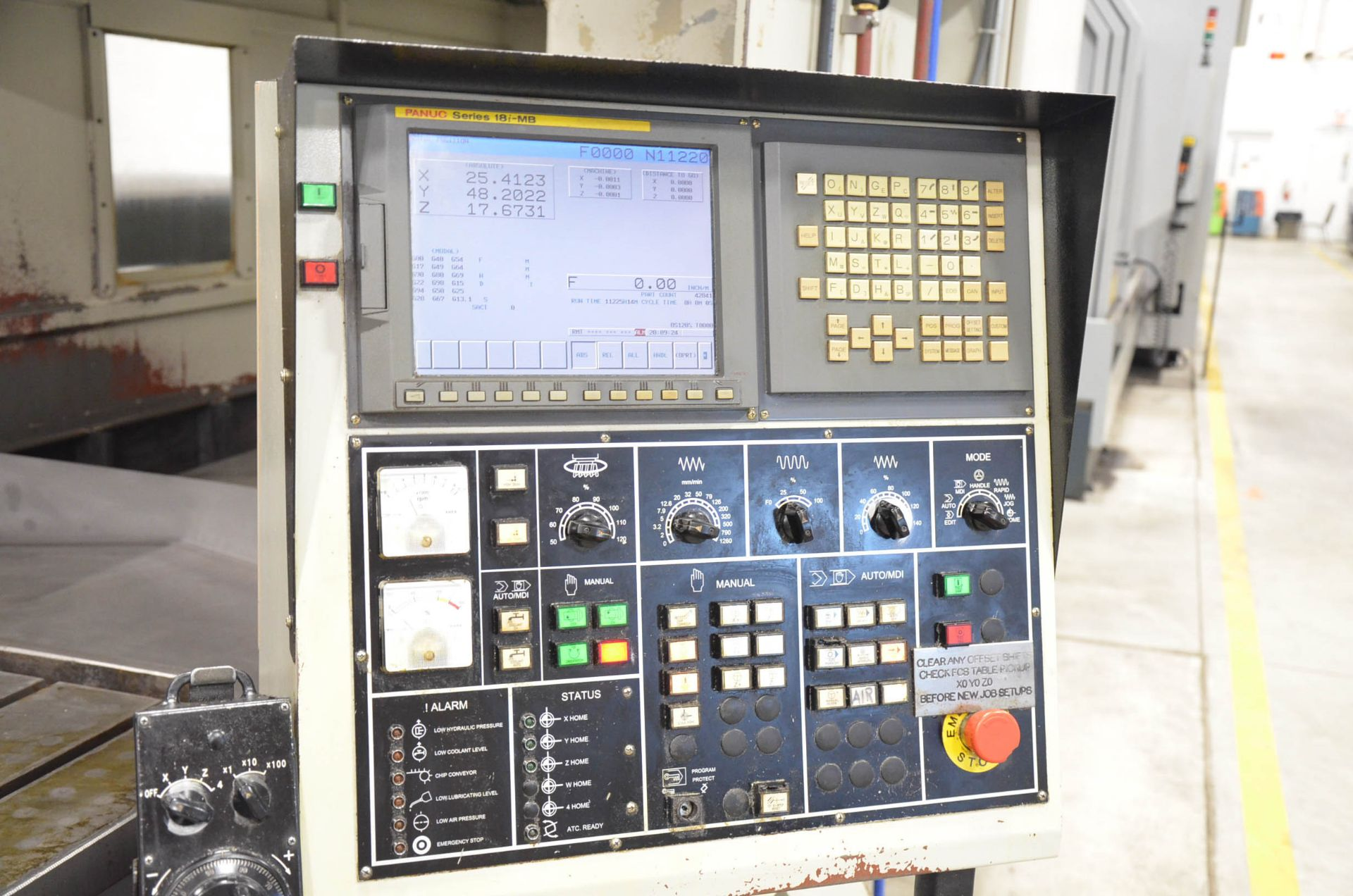 AWEA (2005) SP3016HSS GANTRY-TYPE CNC VERTICAL MACHINING CENTER WITH FANUC SERIES 18I-MB CNC - Image 12 of 12