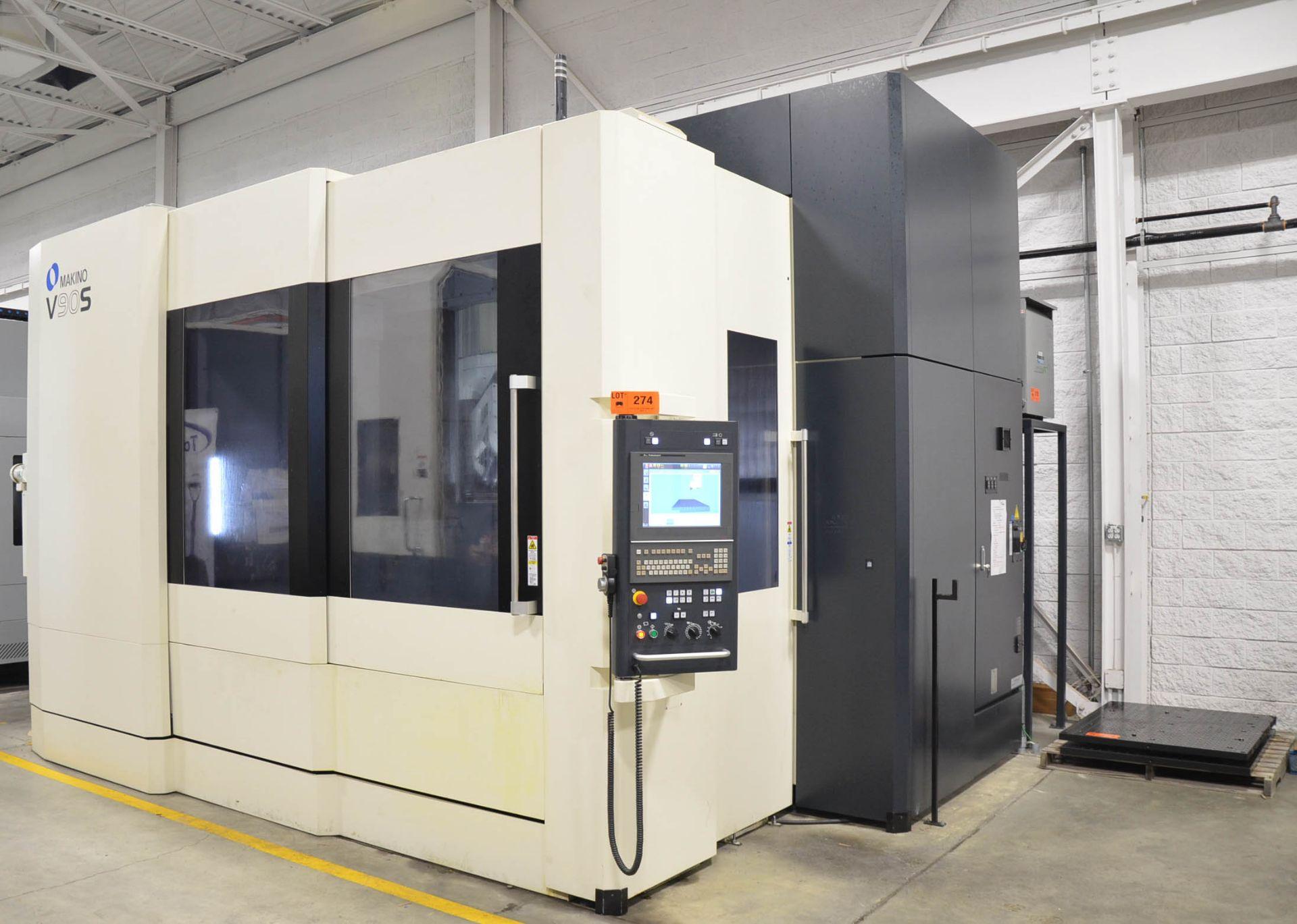 "MAKINO (NOV 2018) V90S 5-AXIS CNC MACHINING CENTER WITH MAKINO PROFESSIONAL 6 CNC CONTROL, 78.74"" - Image 10 of 15"