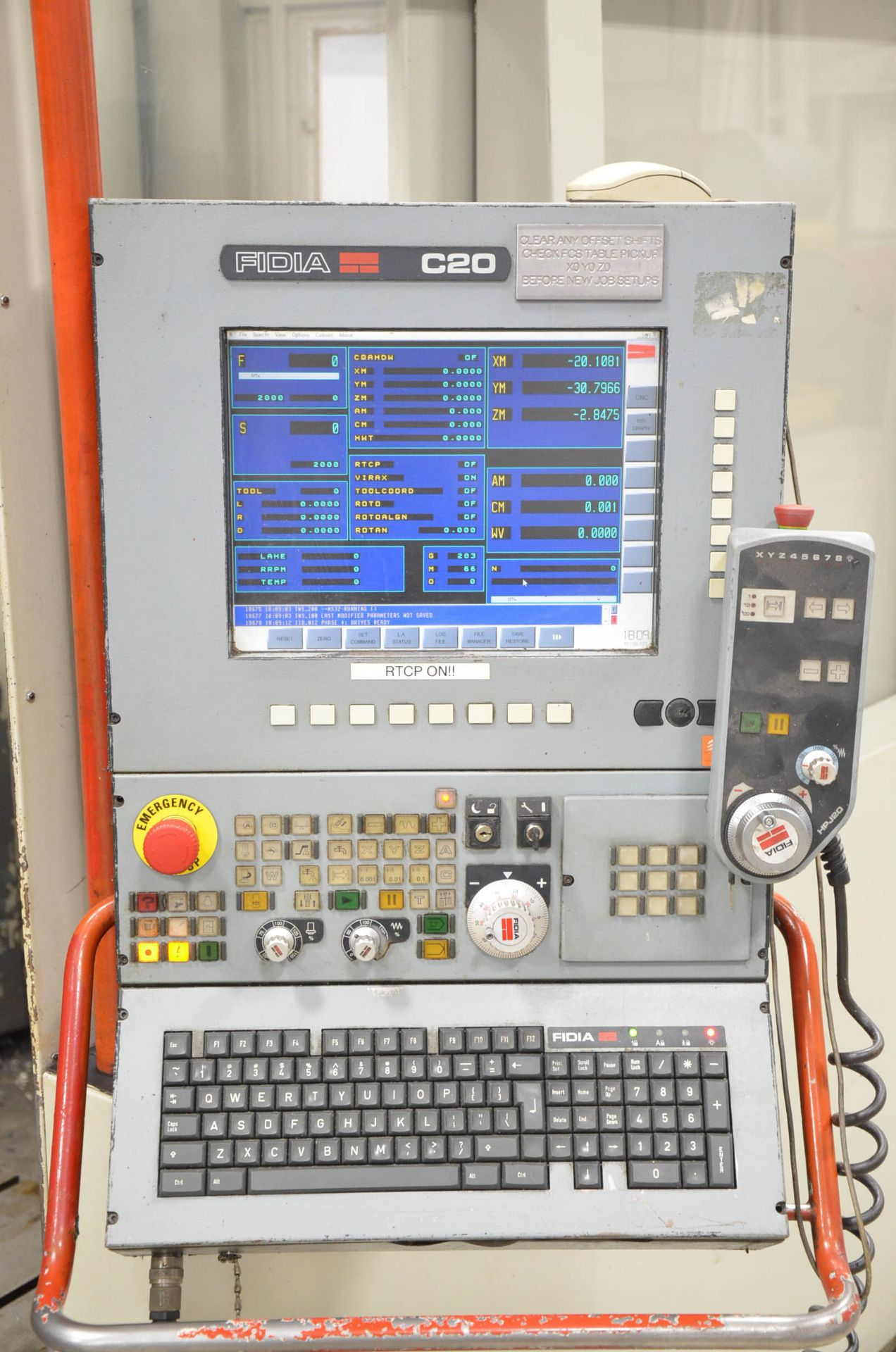 """FIDIA (2002) K 411 5-AXIS CNC VERTICAL MACHINING CENTER WITH FIDIA C20 CNC CONTROL, 59"""" X 197"""" - Image 8 of 11"""