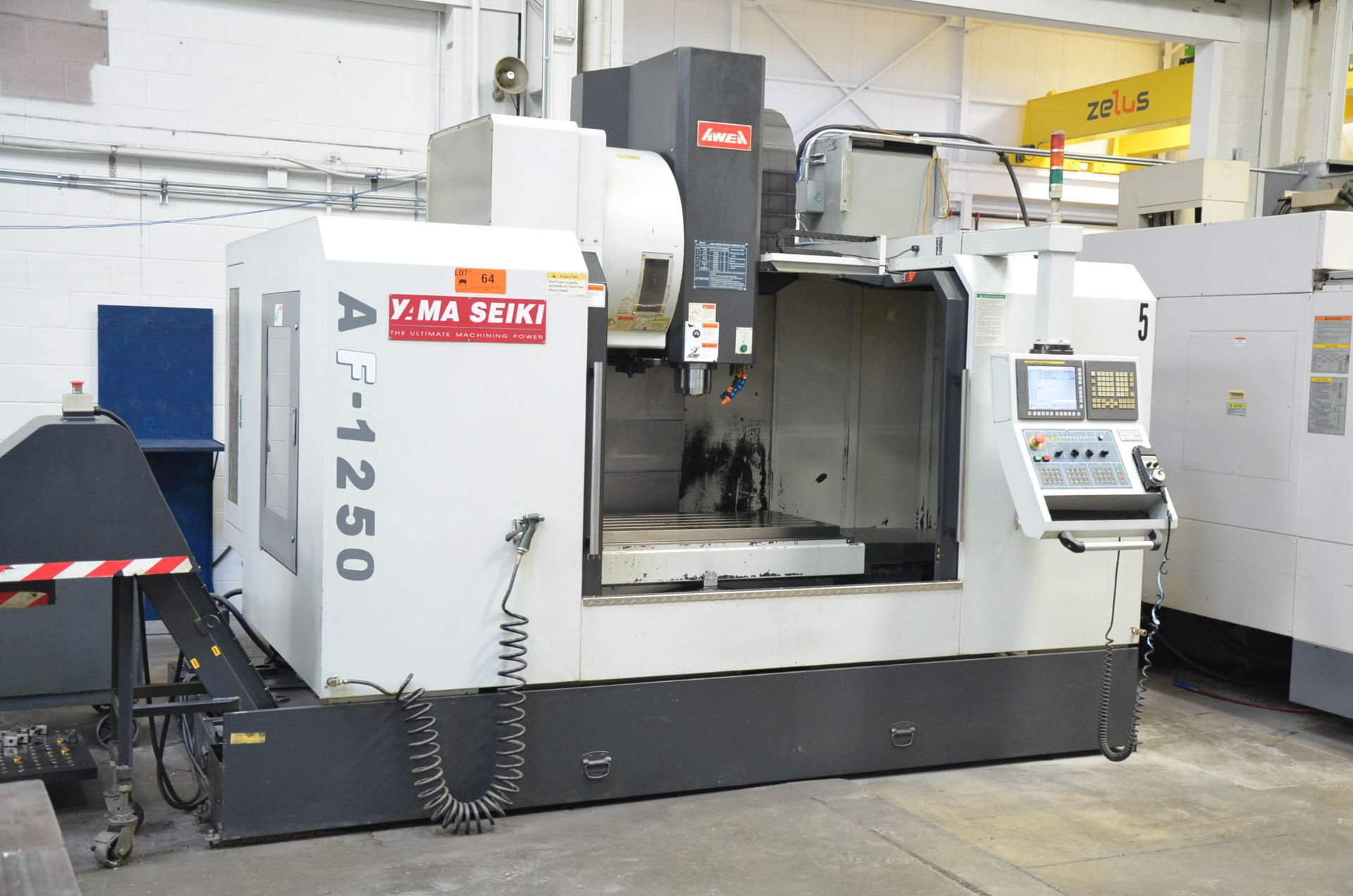 AWEA YAMA SEIKI (2012) AF-1250 CNC VERTICAL MACHINING CENTER WITH FANUC SERIES 31I-MODEL B CNC - Image 2 of 10