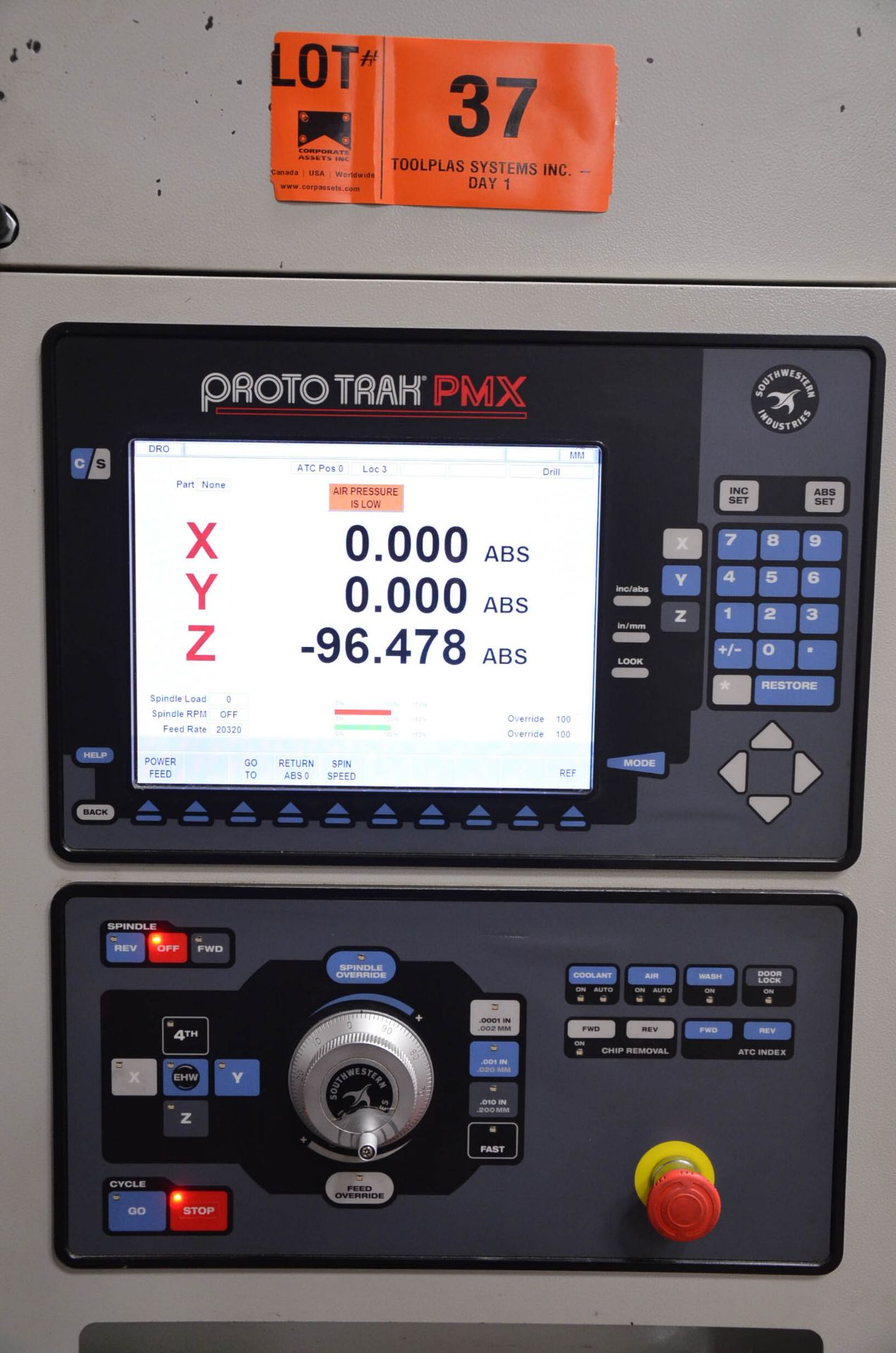 SWI (2012) TRAK LPM 4-AXIS READY CNC VERTICAL MACHINING CENTER WITH PROTO TRAK PMX CNC CONTROL, 19. - Image 10 of 10