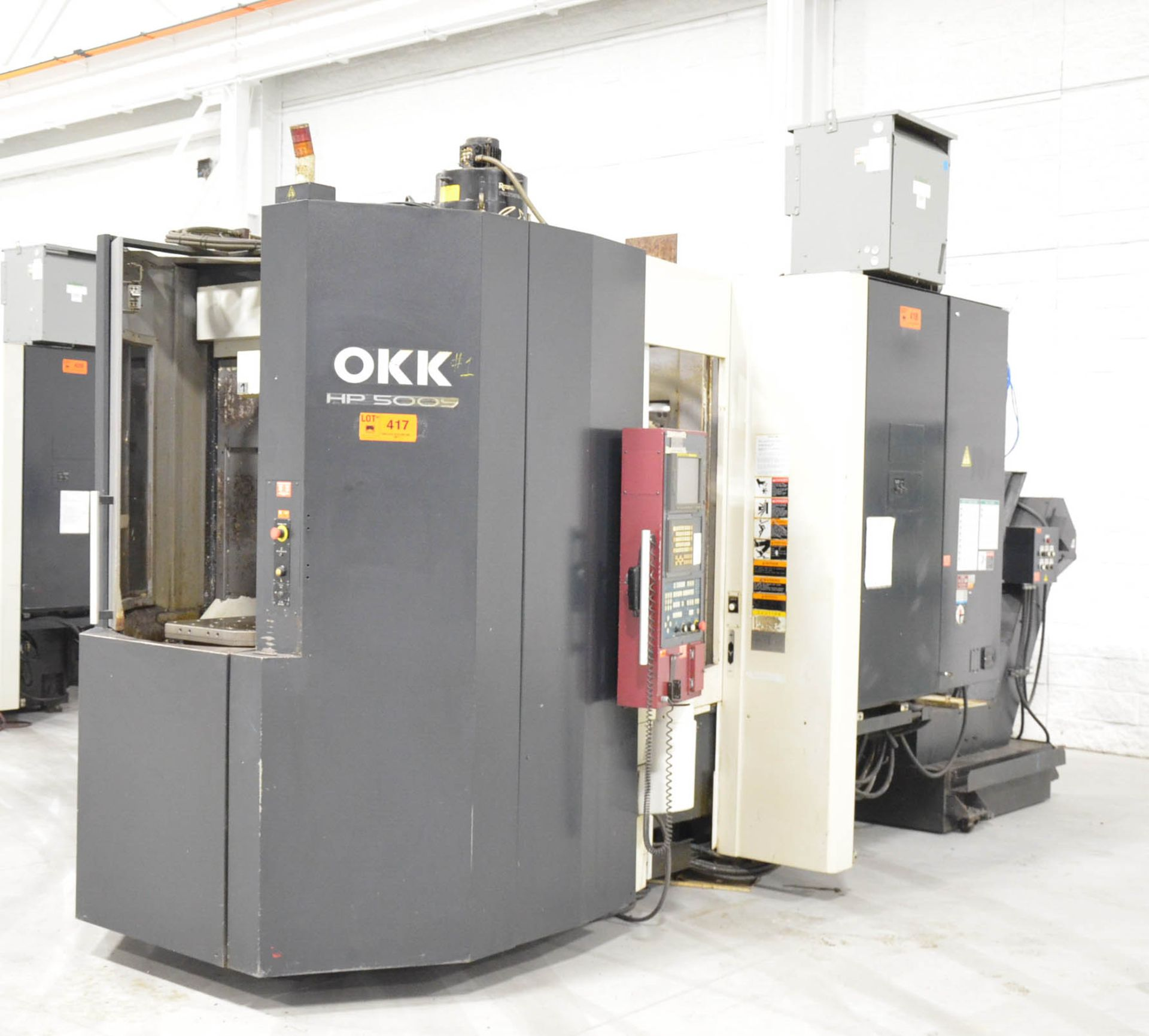 OKK (2006) HP500S TWIN-PALLET CNC HORIZONTAL MACHINING CENTER WITH FANUC 180I S-MB CNC CONTROL, 19. - Image 2 of 6