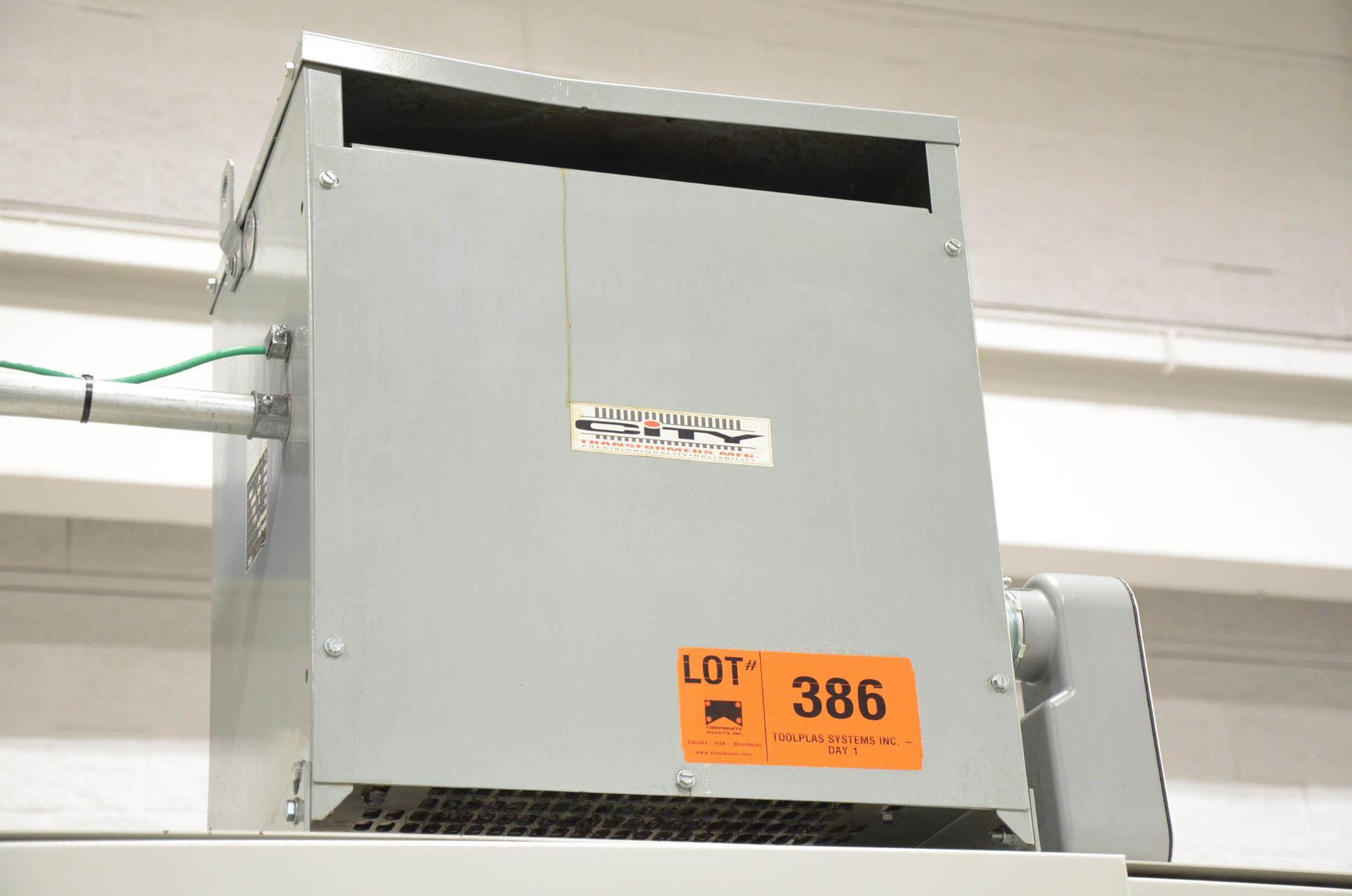 REX 45KVA/600-220V/3PH/60HZ TRANSFORMER (CI) [RIGGING FEES FOR LOT #386 - $50 USD PLUS APPLICABLE