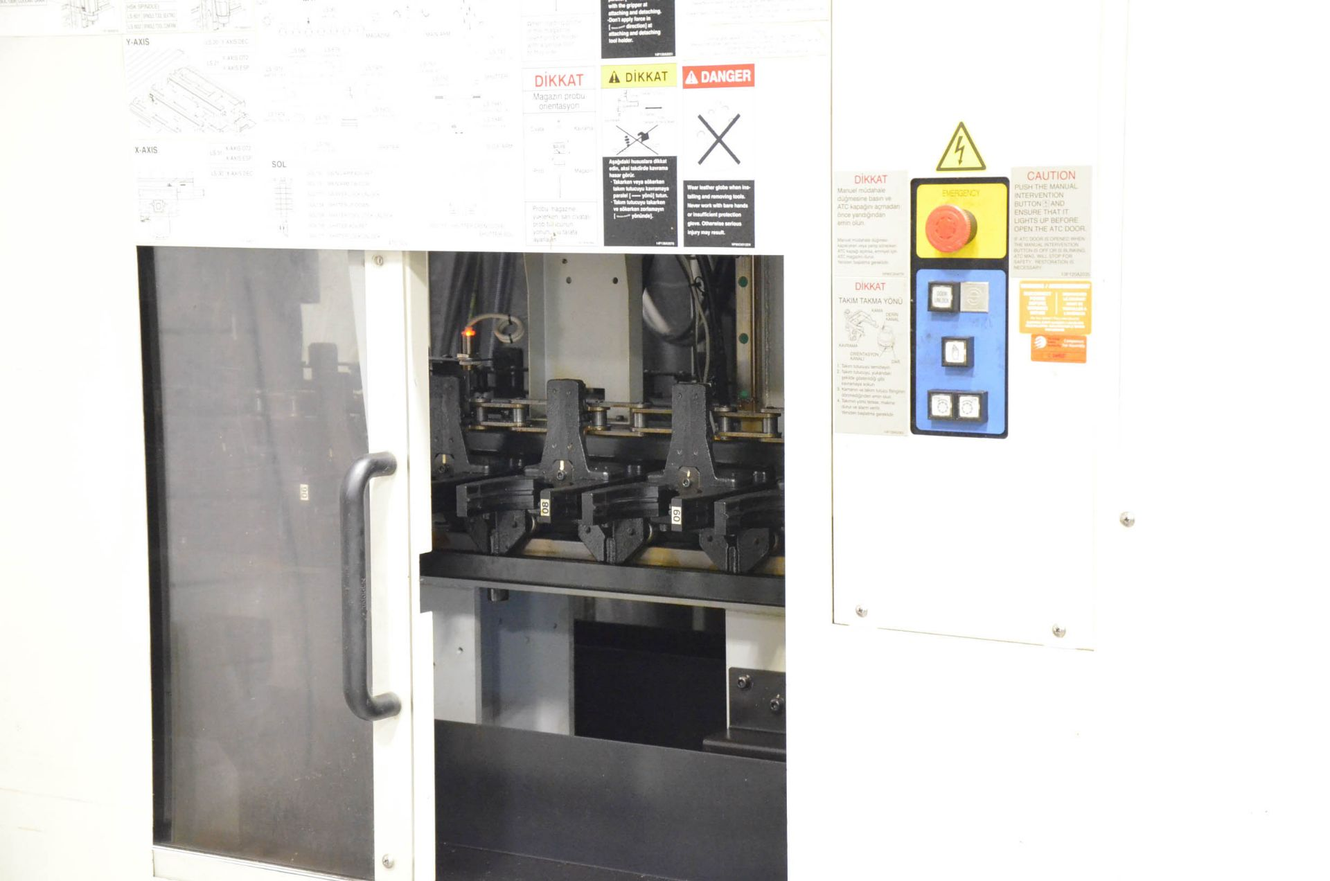 MAKINO (2008) V99L(#50) CNC VERTICAL MACHINING CENTER WITH MAKINO PROFESSIONAL 5 CNC CONTROL, 39. - Image 9 of 12