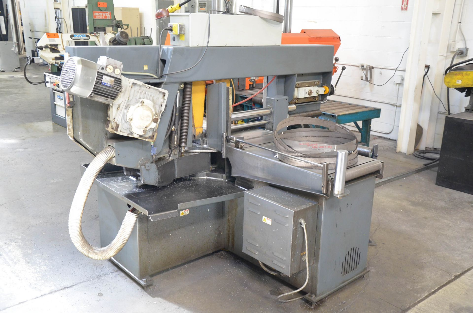 """HYD-MECH S-23 HORIZONTAL BAND SAW WITH 20"""" CAPACITY, HYDRAULIC VISE, COOLANT, CHIP AUGER, 600V/3PH/ - Image 4 of 8"""