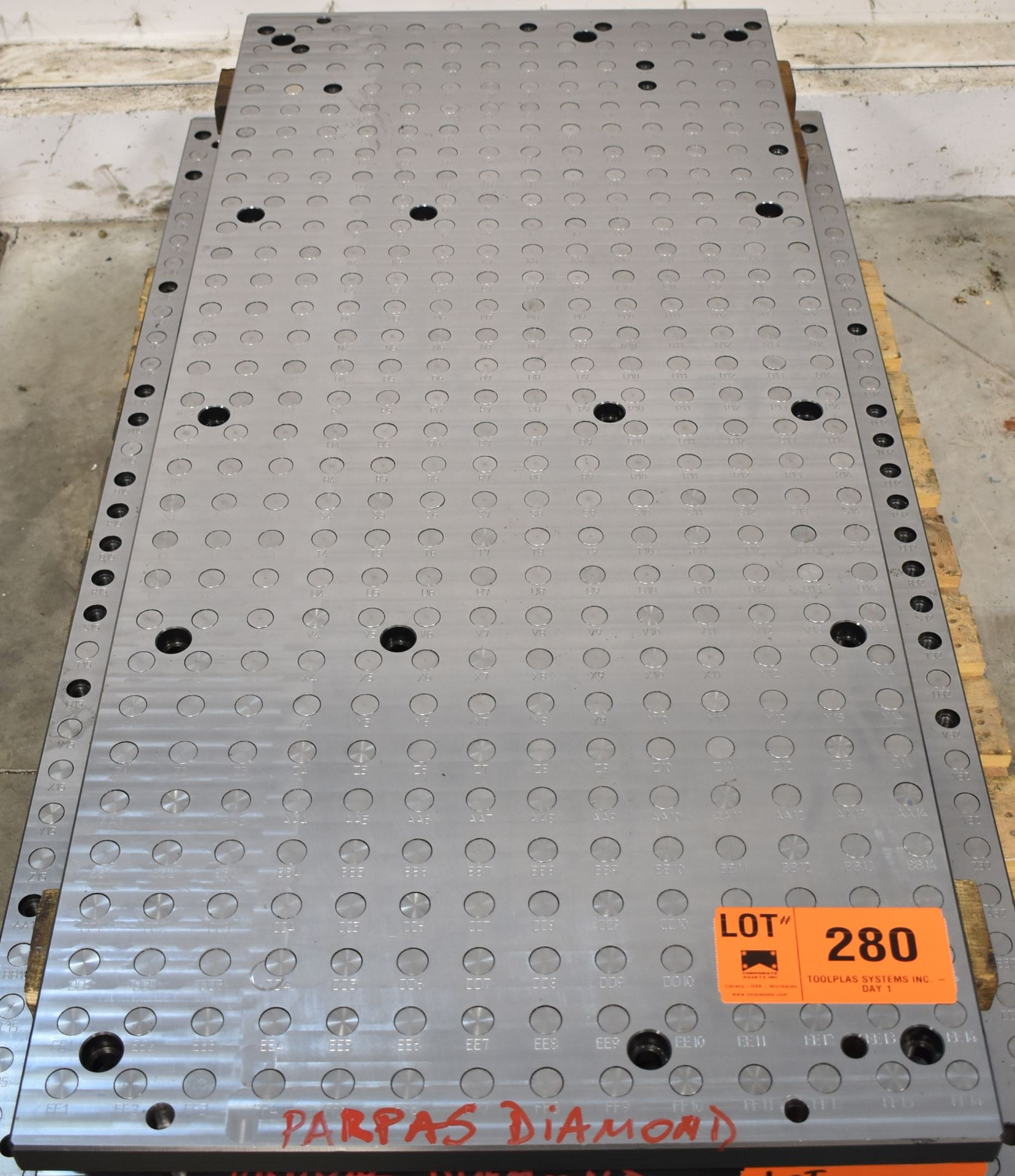 """27.5"""" x 63"""" SUB-TABLE WITH FCS SYSTEM CLAMPING"""