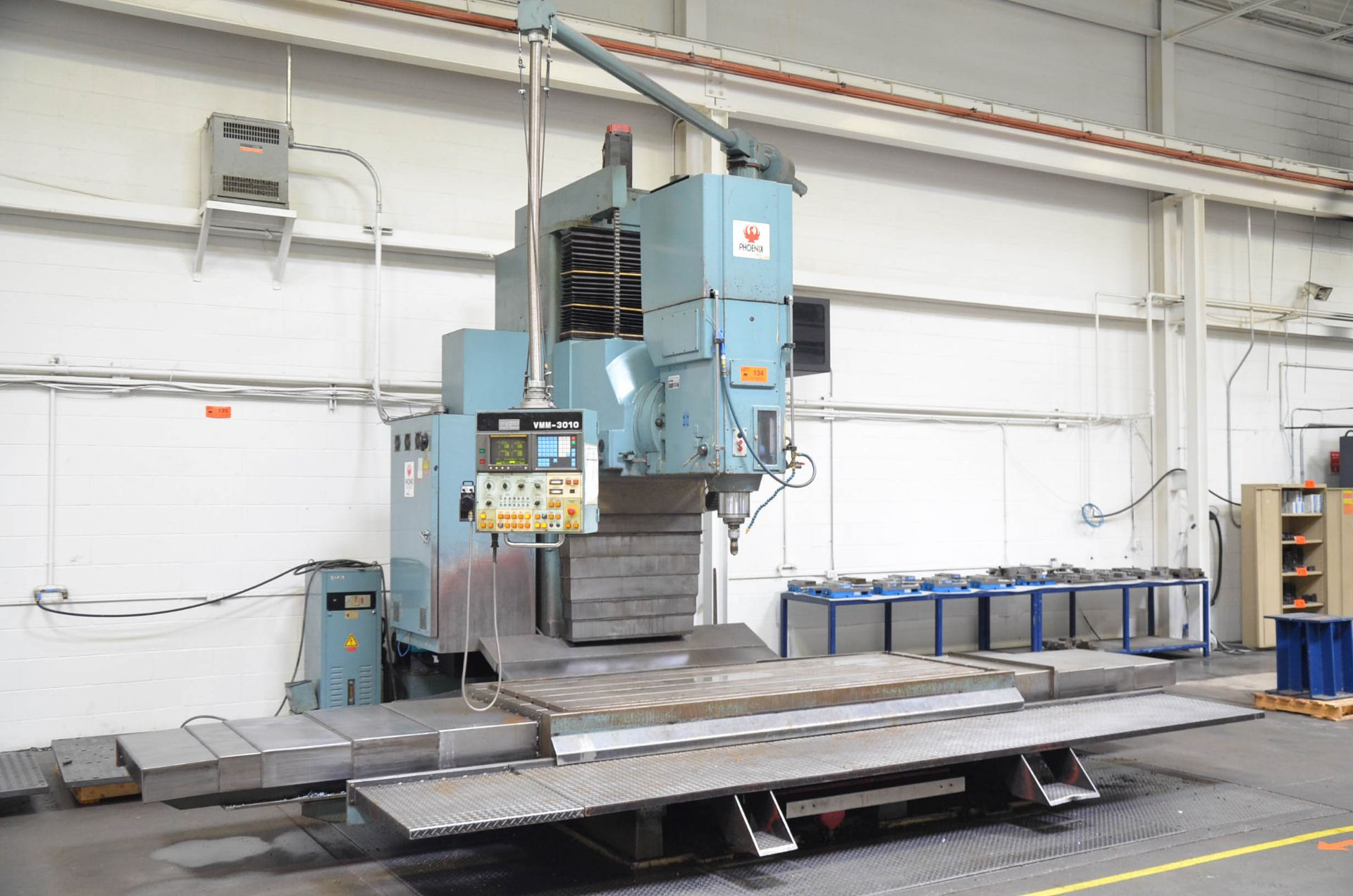 """KAFO VMM3010 CNC VERTICAL MILLING MACHINE WITH FANUC SERIES 15-M CNC CONTROL, 43""""X112"""" TABLE,"""
