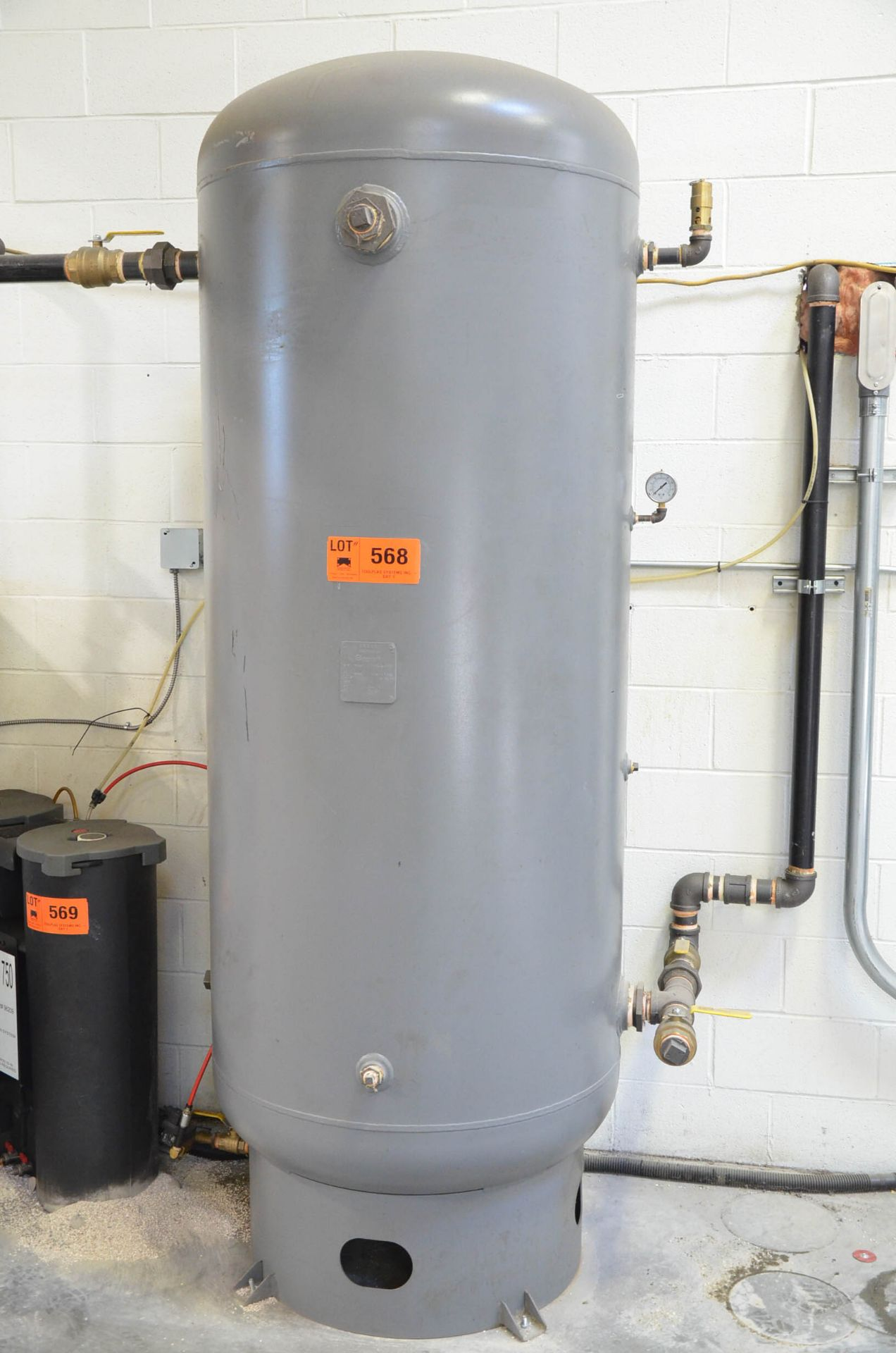 MANCHESTER LTD APPROX. 400 GAL CAPACITY AIR RECEIVER TANK, S/N N/A (SLIGHT DELAY DELIVERY) (CI) [