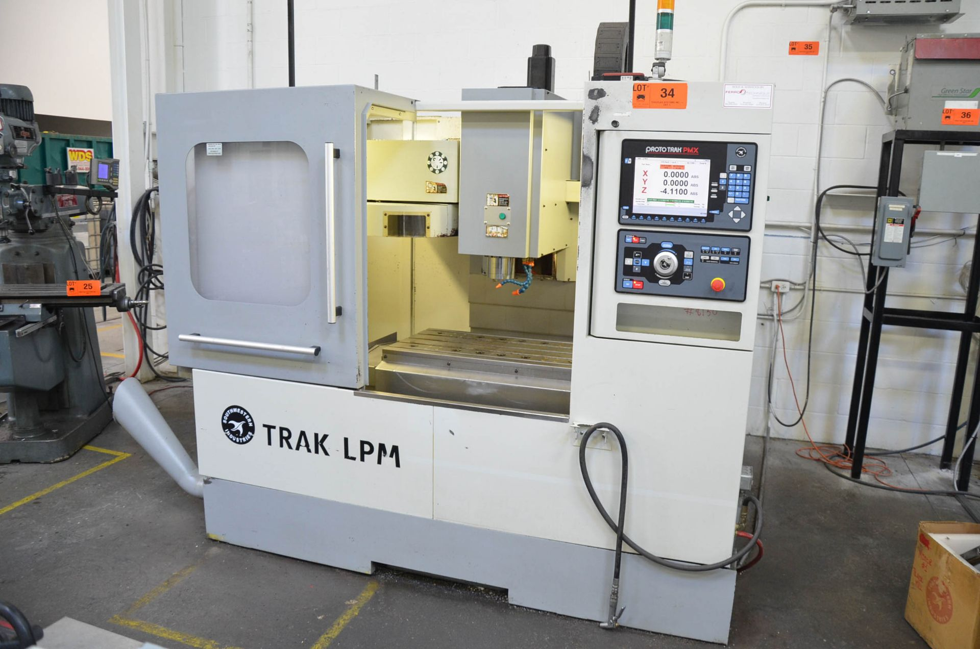"SWI (2014) TRAK LPM CNC VERTICAL MACHINING CENTER WITH PROTO TRAK PMX CNC CONTROL, 19.5"" X 35.5"" - Image 2 of 9"