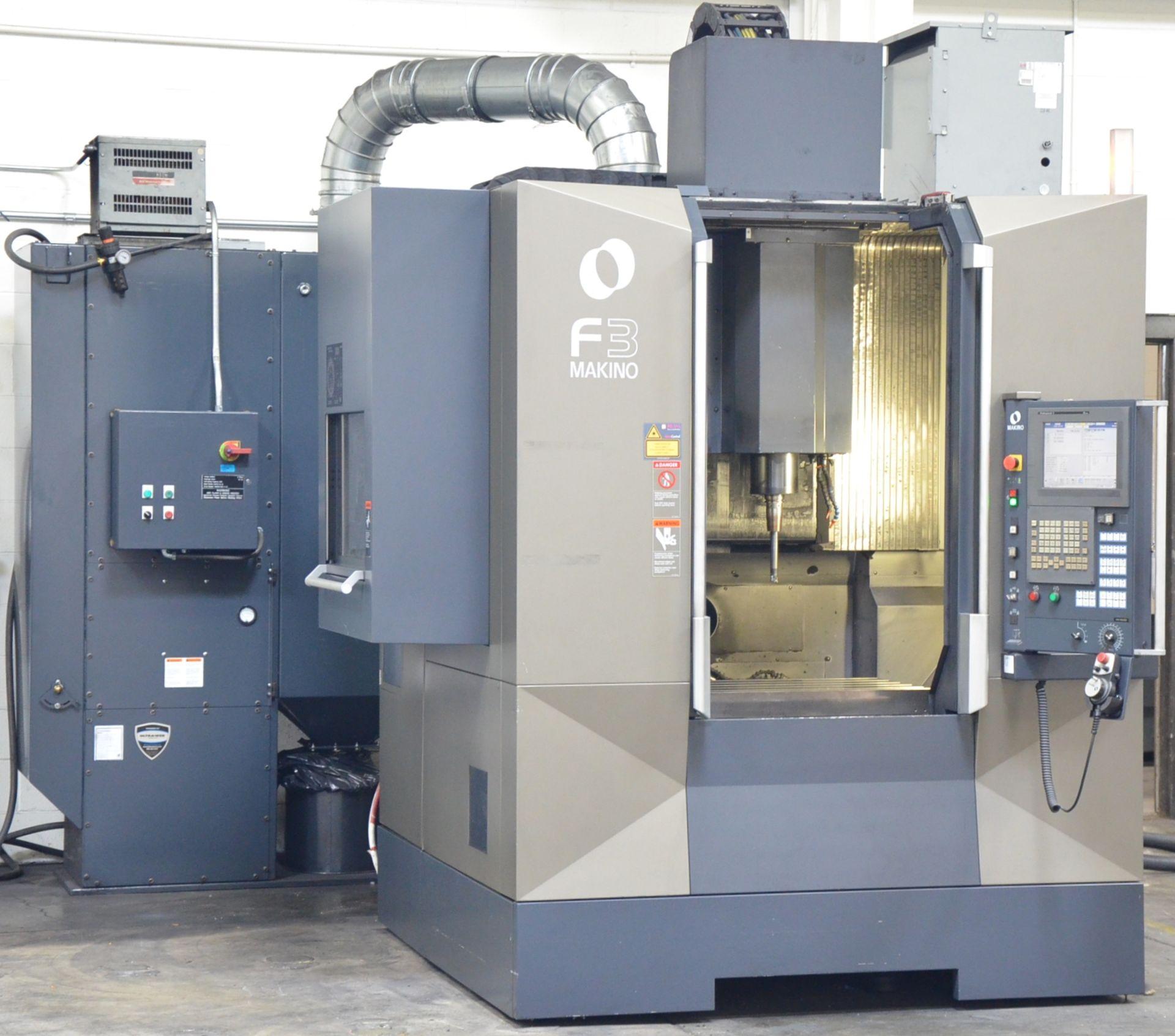 MAKINO (2012) F3 CNC VERTICAL MACHINING CENTER WITH MAKINO PROFESSIONAL 5 TOUCHSCREEN CNC CONTROL,