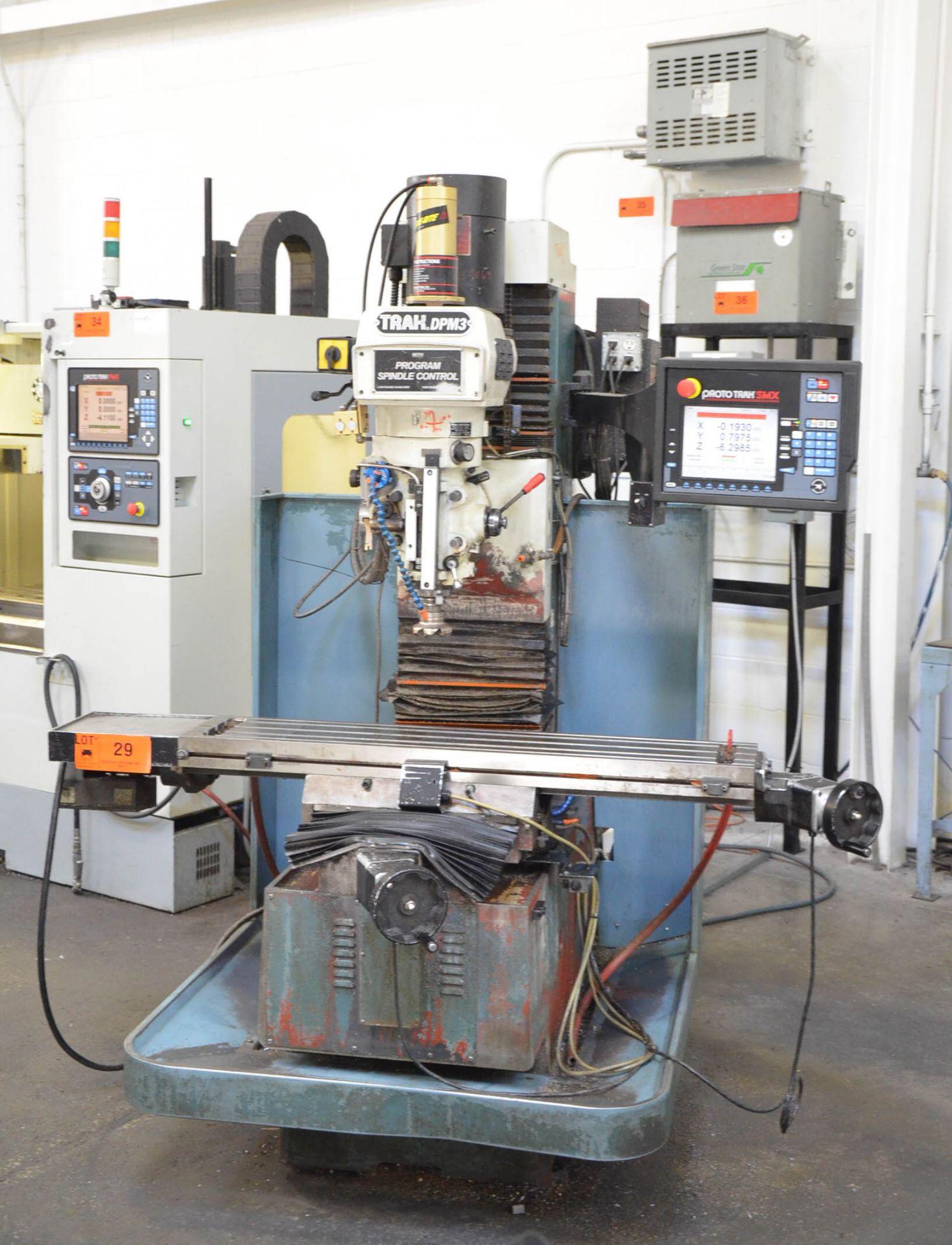 "TRAK DPM3 CNC VERTICAL TURRET MILLING MACHINE WITH PROTO TRAK (2016) SMX CNC CONTROL, 10"" X 50"" - Image 2 of 10"