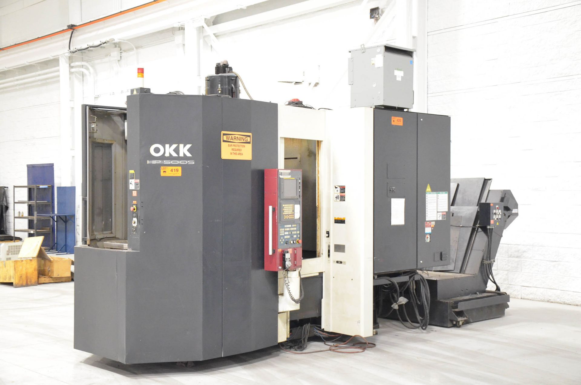 OKK (2006) HP500S TWIN-PALLET CNC HORIZONTAL MACHINING CENTER WITH FANUC 180I S-MB CNC CONTROL, 19.