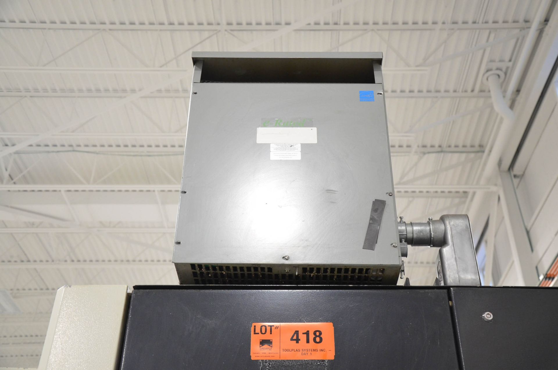 REX 45KVA/600-208-120V/3PH/60HZ TRANSFORMER (CI) [RIGGING FEES FOR LOT #418 - $50 USD PLUS - Image 4 of 5