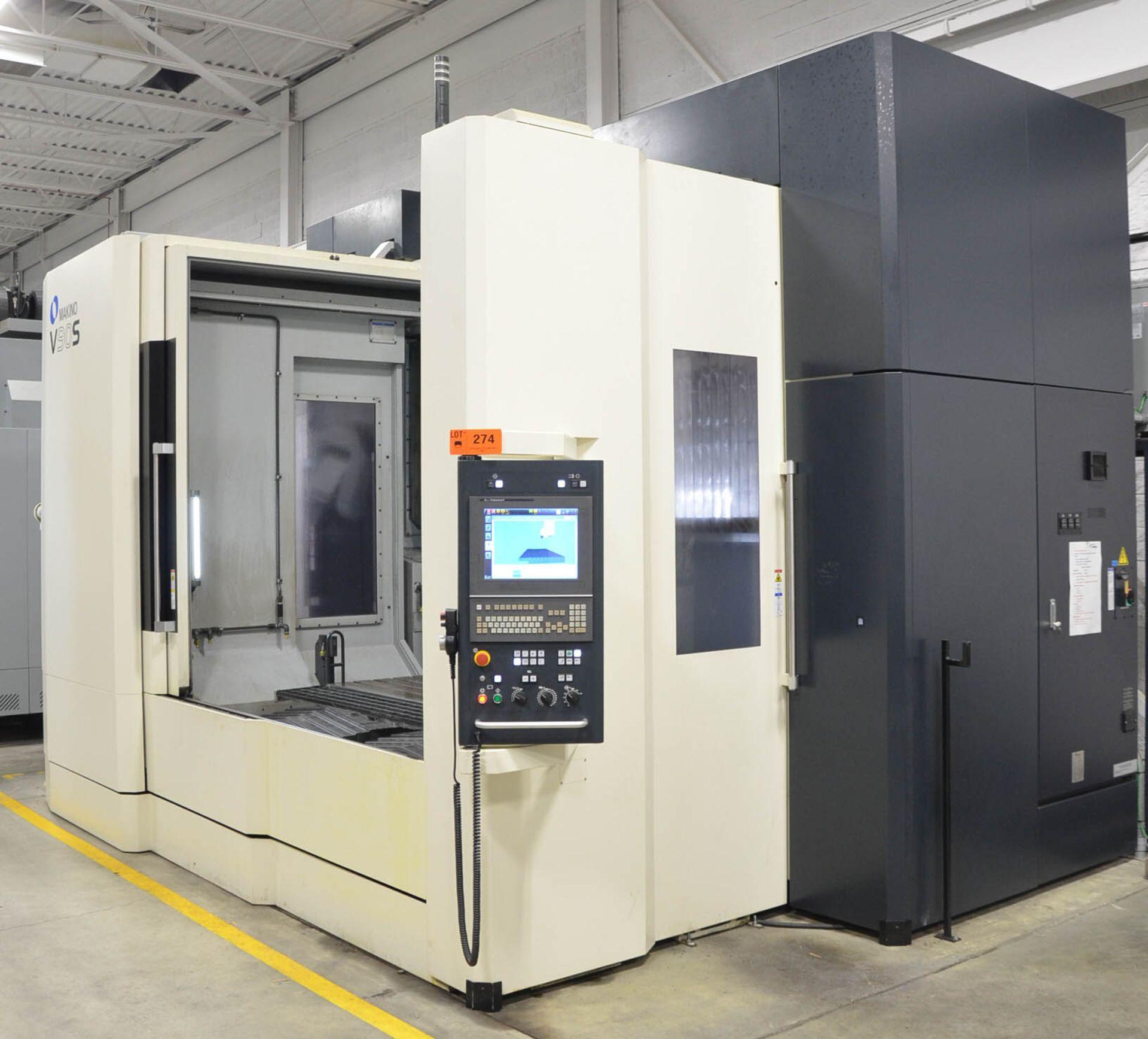 "MAKINO (NOV 2018) V90S 5-AXIS CNC MACHINING CENTER WITH MAKINO PROFESSIONAL 6 CNC CONTROL, 78.74"" - Image 4 of 15"