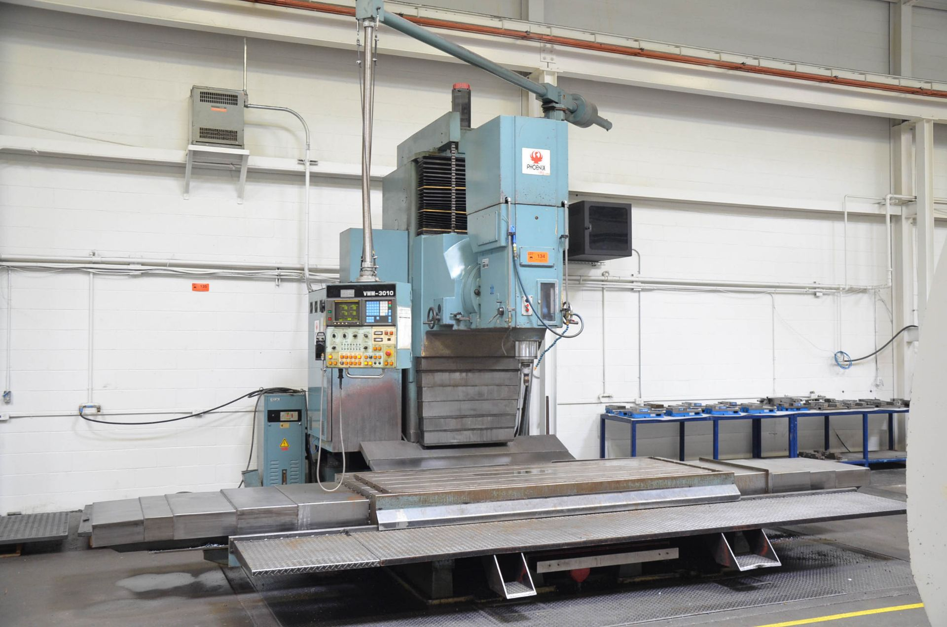 """KAFO VMM3010 CNC VERTICAL MILLING MACHINE WITH FANUC SERIES 15-M CNC CONTROL, 43""""X112"""" TABLE, - Image 2 of 6"""