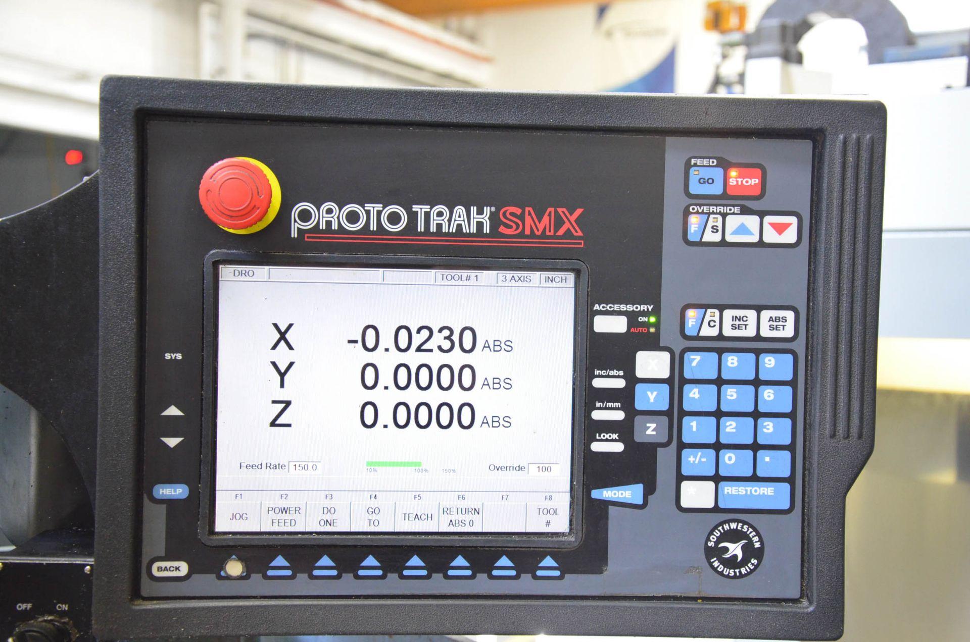 "TRAK DPM3 CNC VERTICAL TURRET MILLING MACHINE WITH PROTO TRAK (2007) SMX CNC CONTROL, 10"" X 50"" - Image 5 of 7"