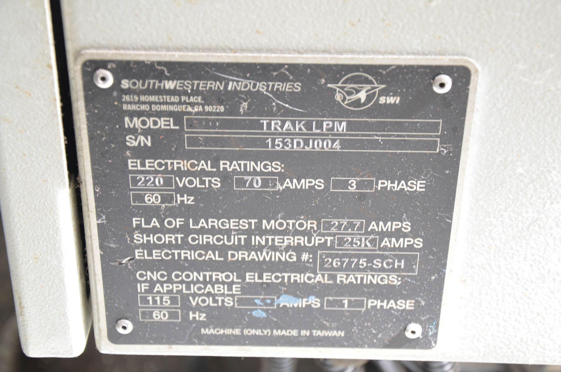SWI (2014) TRAK LPM 4-AXIS READY CNC VERTICAL MACHINING CENTER WITH PROTO TRAK PMX CNC CONTROL, 19. - Image 5 of 12