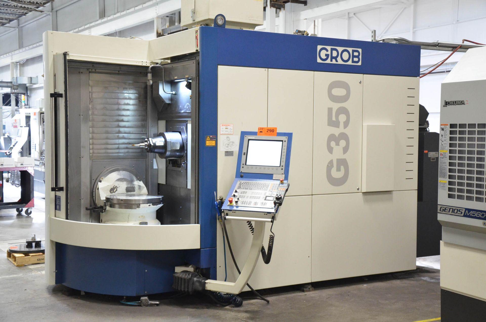 "GROB (2012) G350 5-AXIS CNC MACHINING CENTER WITH HEIDENHAIN ITNC 530 CNC CONTROL, 22.25"" DIAMETER - Image 3 of 12"
