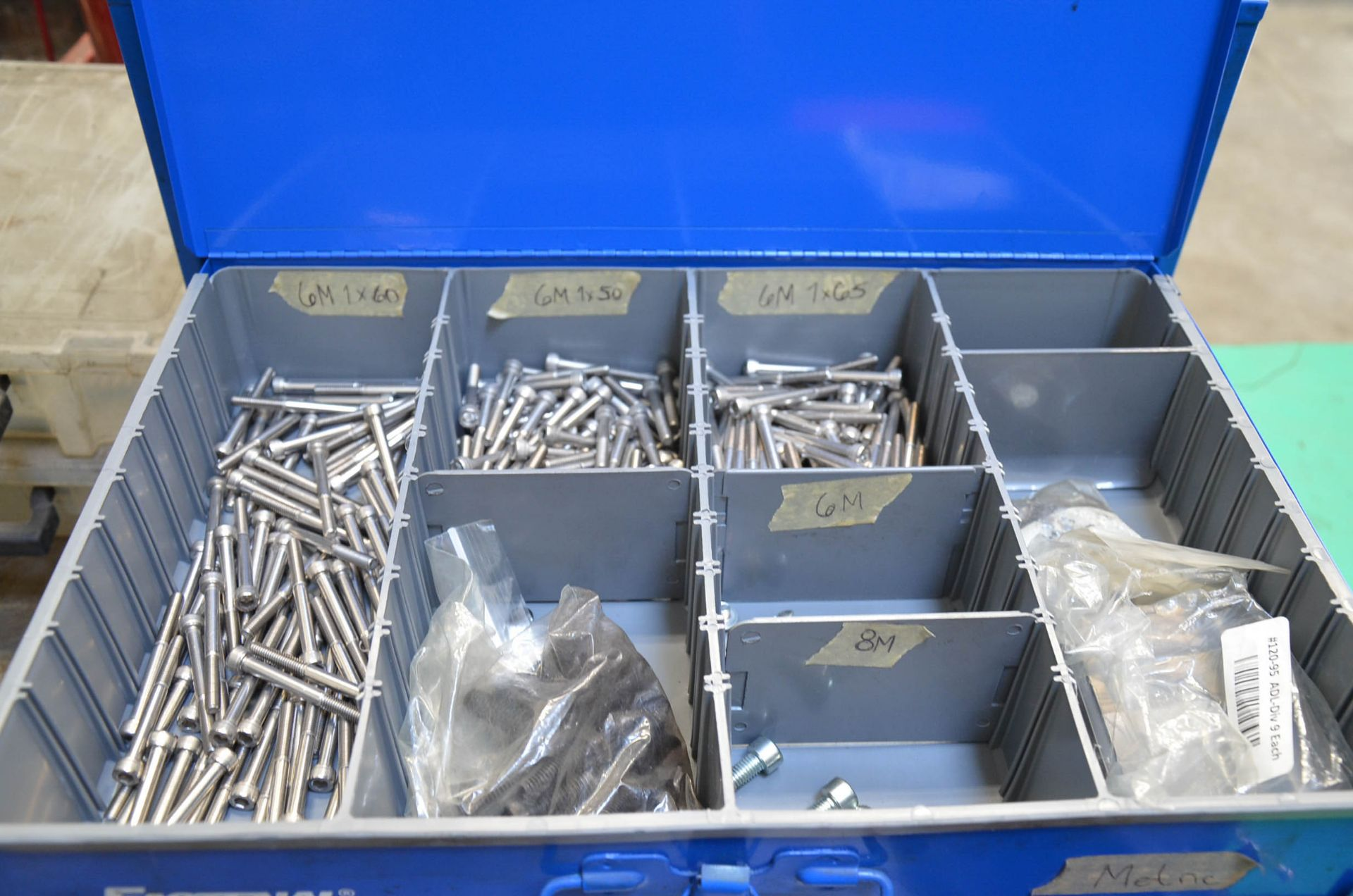 LOT/ FASTENAL INDEX CABINETS WITH HARDWARE - Image 2 of 3